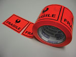 Stylus Packaging Tape Labels Fragile Roll 500